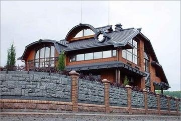каменный забор для дома