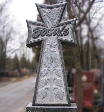 крест на ритуальный гранитный памятник на могилу