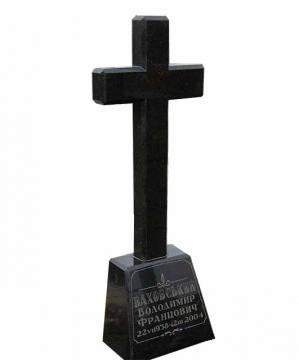 крест на ритуальный каменный памятник для могилы