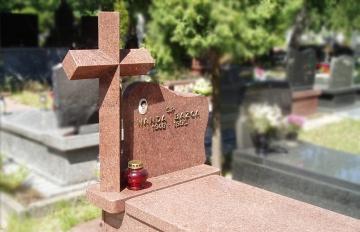 крест на ритуальный памятник из гранита