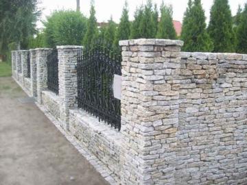 забор гранитный для ограды