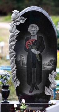 рисунок на  элитный гранитный памятник на могилу