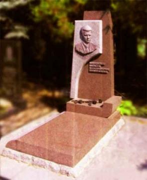 одиночный надгробный гранитный памятник на могилу