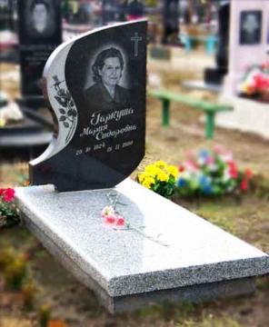 одинарный памятник из гранита для кладбищ