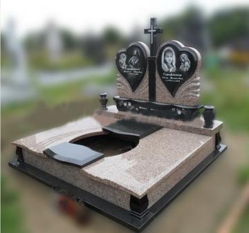 двойной  элитный памятник из камня для кладбищ