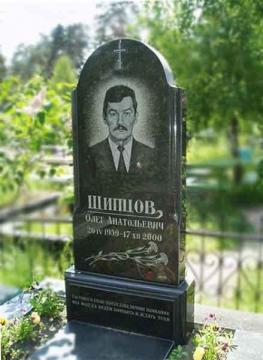 одиночный гранитный памятник для кладбищ