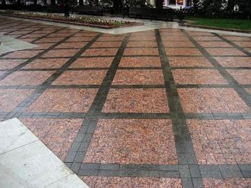 тротуарная гранитная плитка