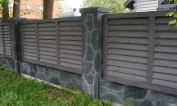 забор из гранита для ограды