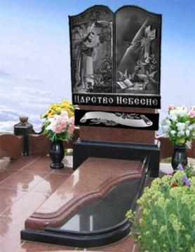двойной  элитный памятник из гранита для кладбищ