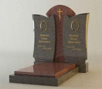 двойной надгробный каменный памятник на могилу