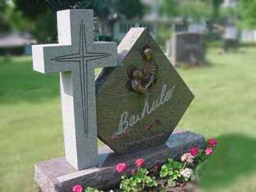 крест на ритуальный памятник из камня