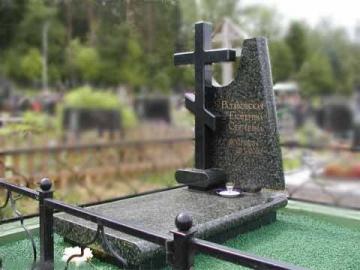 крест на ритуальный гранитный памятник для могилы