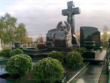 крест на ритуальный памятник из гранита для кладбищ