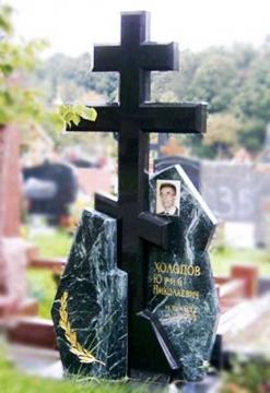 крест на ритуальный памятник из камня на могилу
