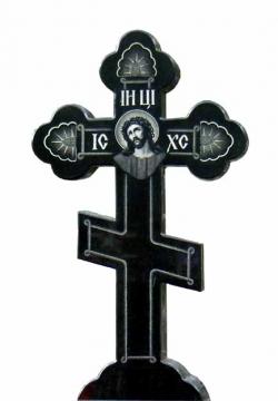 крест на памятник из гранита для могилы