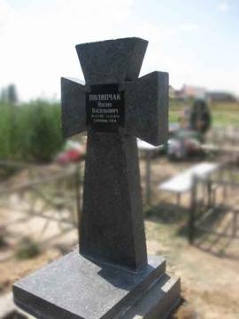 крест на надгробный памятник из камня для могилы