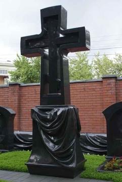 крест на  элитный памятник из гранита для кладбищ