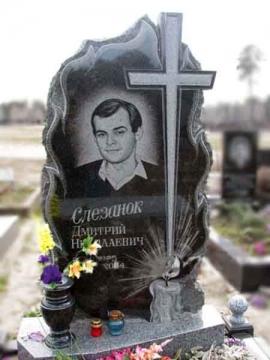 одинарный надгробный памятник из гранита для кладбищ