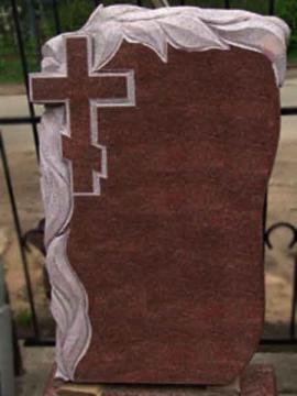одиночный надгробный гранитный памятник для кладбищ