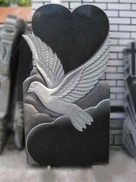 одинарный надгробный гранитный памятник на могилу