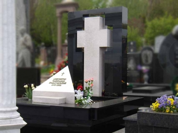 крест на каменный памятник для могилы