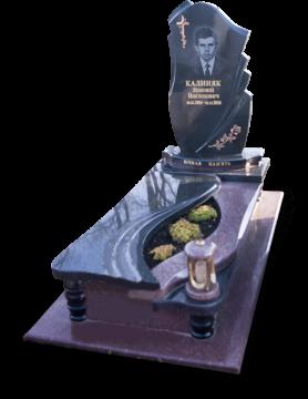 одиночный надгробный памятник из гранита