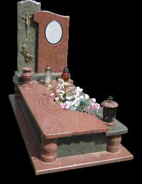 одинарный надгробный гранитный памятник для кладбищ