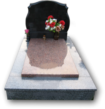 одинарный  элитный памятник из гранита