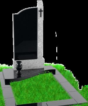 одиночный  элитный памятник из гранита для кладбищ