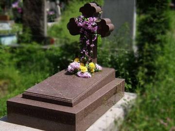 крест на каменный памятник для кладбищ