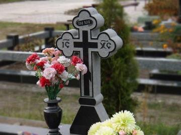 крест на  элитный каменный памятник на могилу