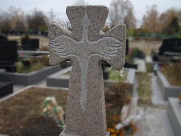 крест на ритуальный памятник из камня для могилы
