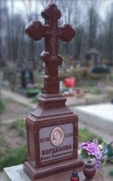 крест на  элитный памятник из камня