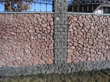 забор из гранита