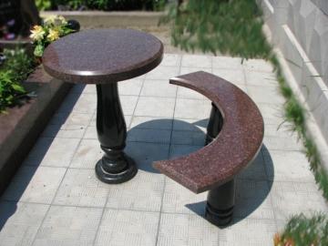 стол и лавка из гранита