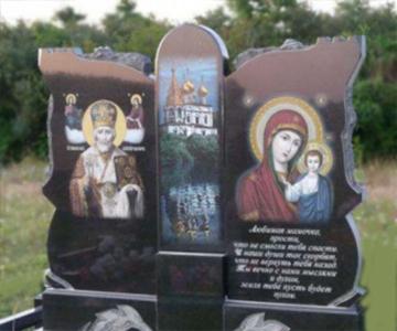 оформление на ритуальный гранитный памятник для кладбищ