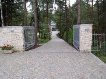 забор из натурального камня для дома