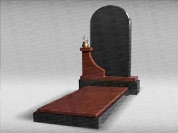одиночный памятник из гранита на могилу