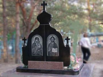 двойной надгробный гранитный памятник на могилу
