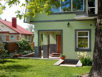 гранитный фасад для дома