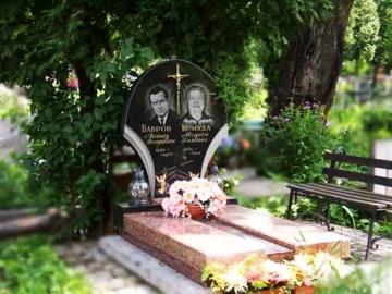 двойной каменный памятник на могилу