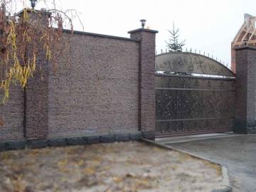 забор из гранита для дома