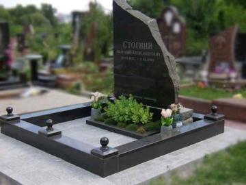 одинарный  элитный памятник из камня для кладбищ