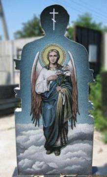 художественное оформление на надгробный гранитный памятник для кладбищ
