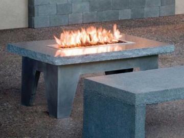камин в виде стола